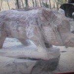 sculpture réalisée à la tronçonneuse