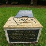 Monument en mémoire de la Shoah et des Justes de la Nation, Mézières, place de l'hôtel de ville
